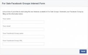 How to create a for sale group on facebook?