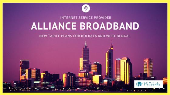 Alliance Broadband Kolkata New Tariff Plans [w.e.f. April,2017]