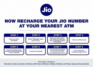 Guide: How to Recharge Jio Mobile Number from using ATM?