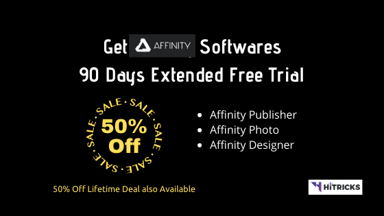 Get Affinity Publisher, Photo, Designer 90 Days Free Trial