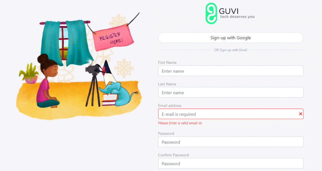 guvi sign up